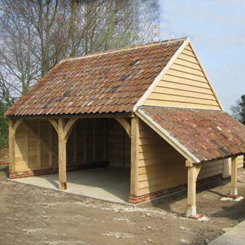 Oak Framed Cart Sheds