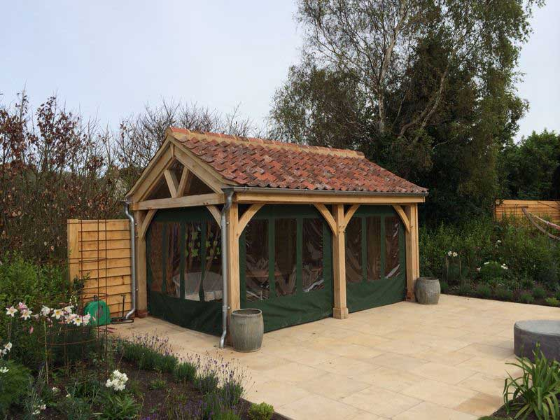 The oak building company ml renovations oak building gallery for Oak framed garden room