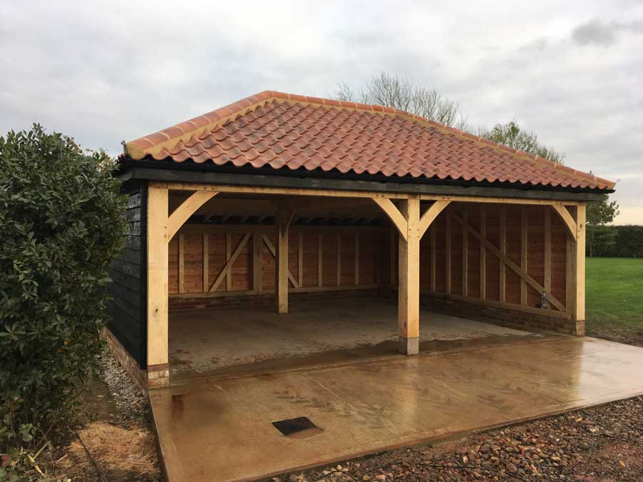 Oak framed Cart Shed
