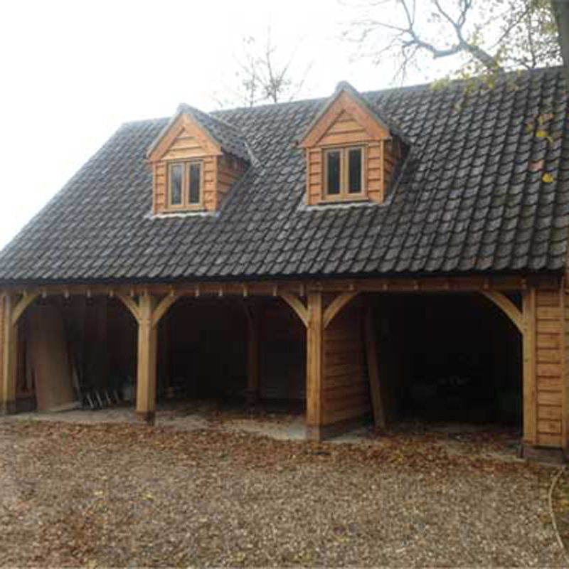 Oak Framed Cart Lodges